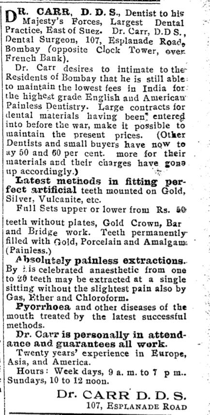 Artificial Teeth Ad